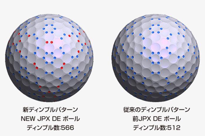 ゴルフボールのディンプル数