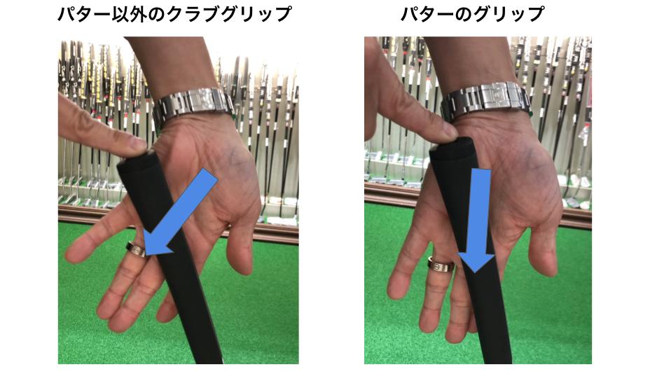 ゴルフパターのグリップの角度は打ち方を知る前に重要